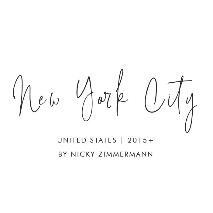 New York City, United States – 2013+. By Nicky Zimmermann
