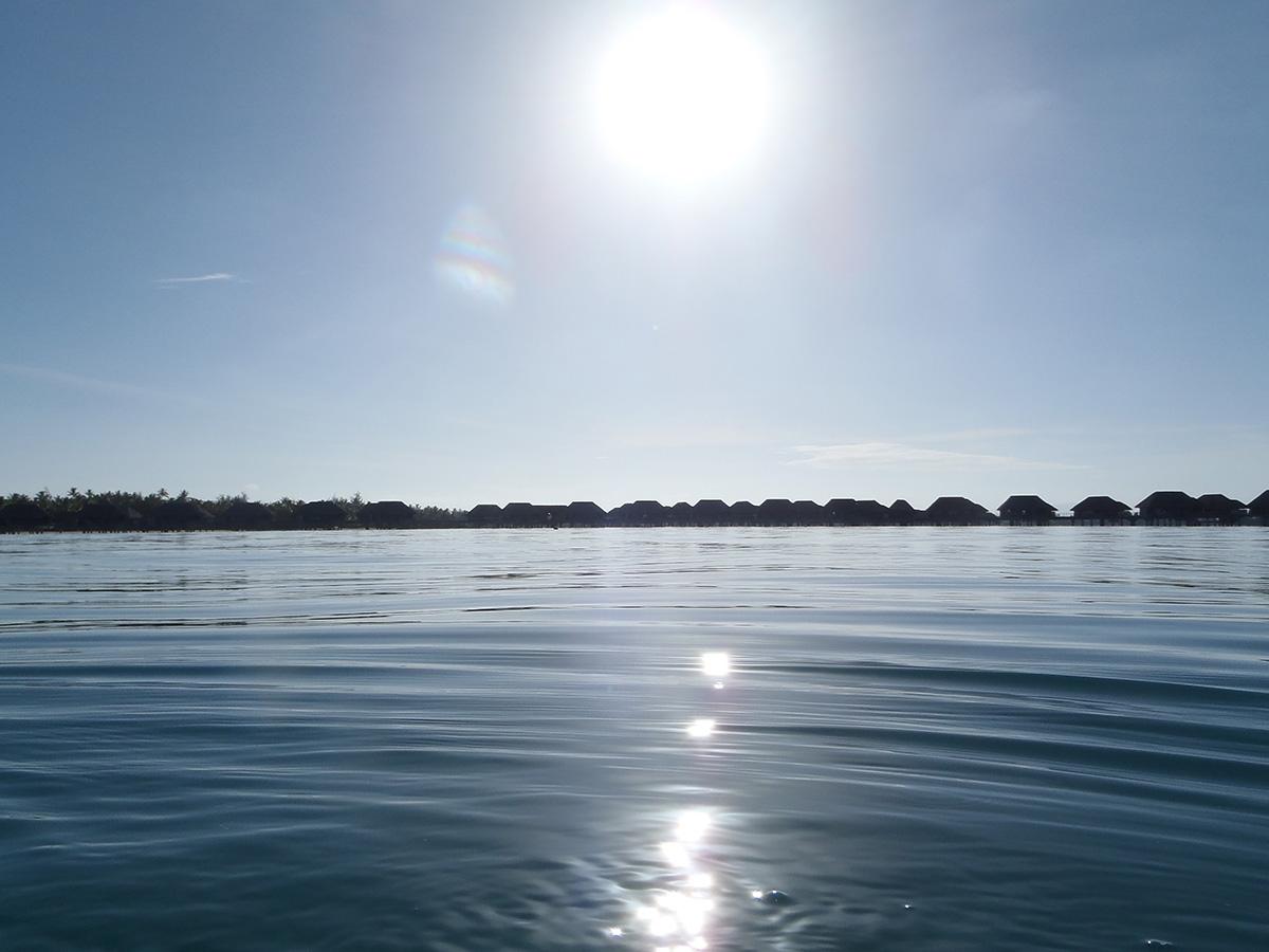 Sunrise along the still water
