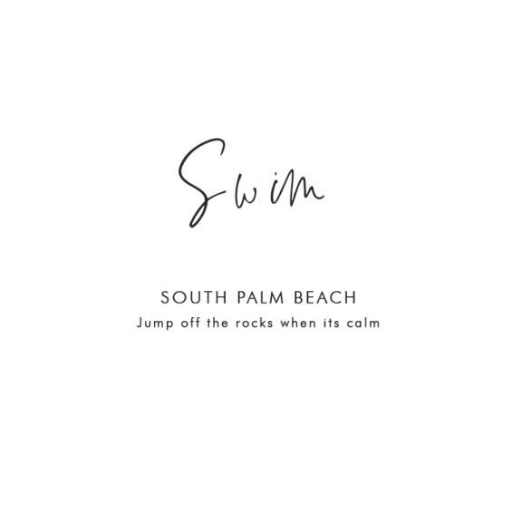 Where to Swim at Palm Beach: South Palm Beach – Jump off the rocks when it's calm