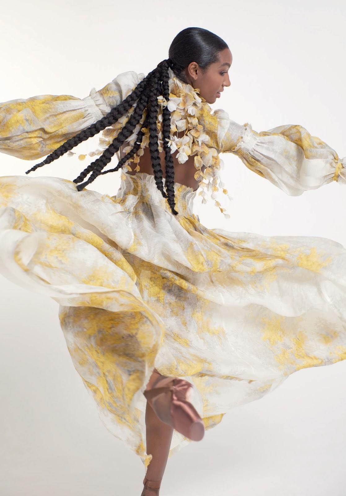 Precious Adams in the Botanica Wattle Gown for Hello Fashion