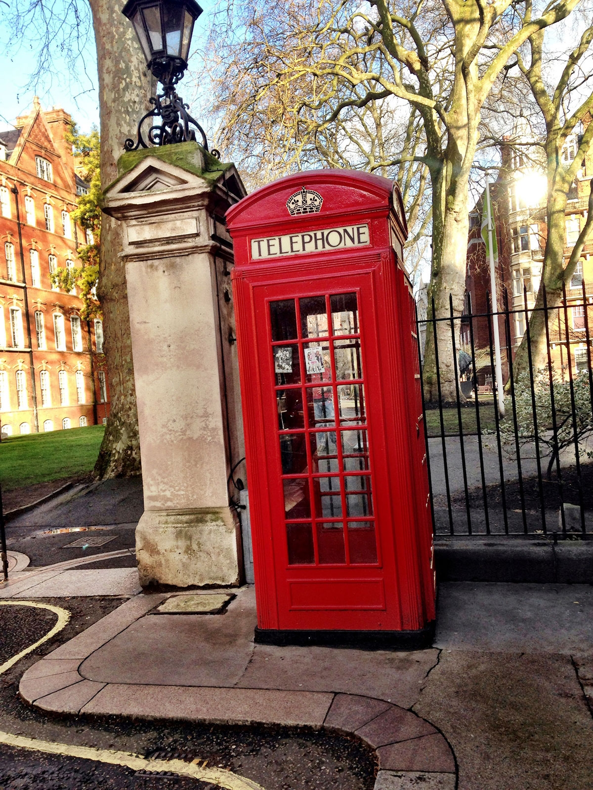 A red telephone booth. March 2016