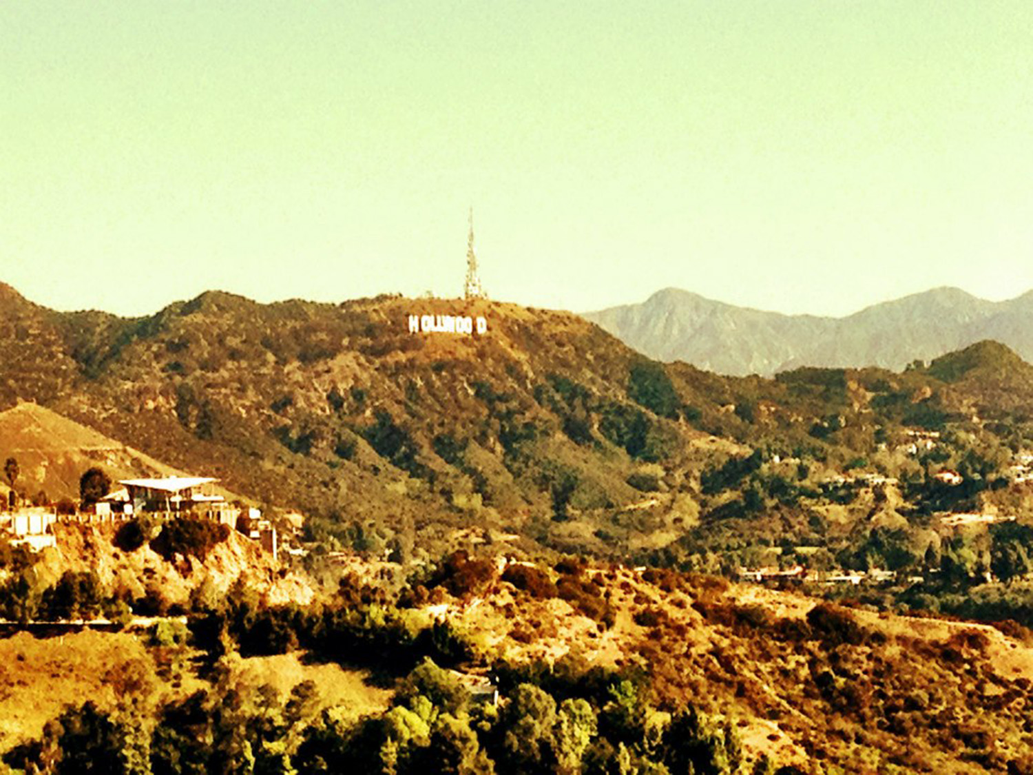 Looking at the iconic Hollywood sign from the Runyon Canyon walk, March 2013