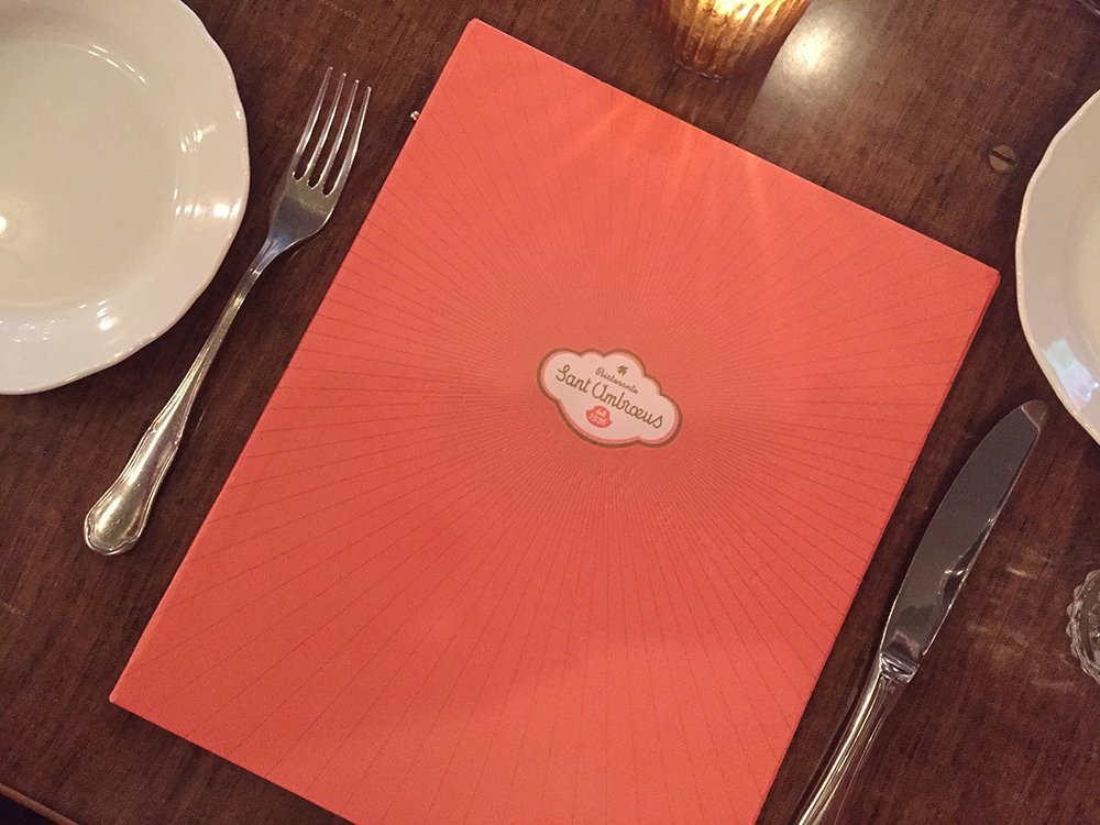 The menu at San Ambroeus on Lafayette