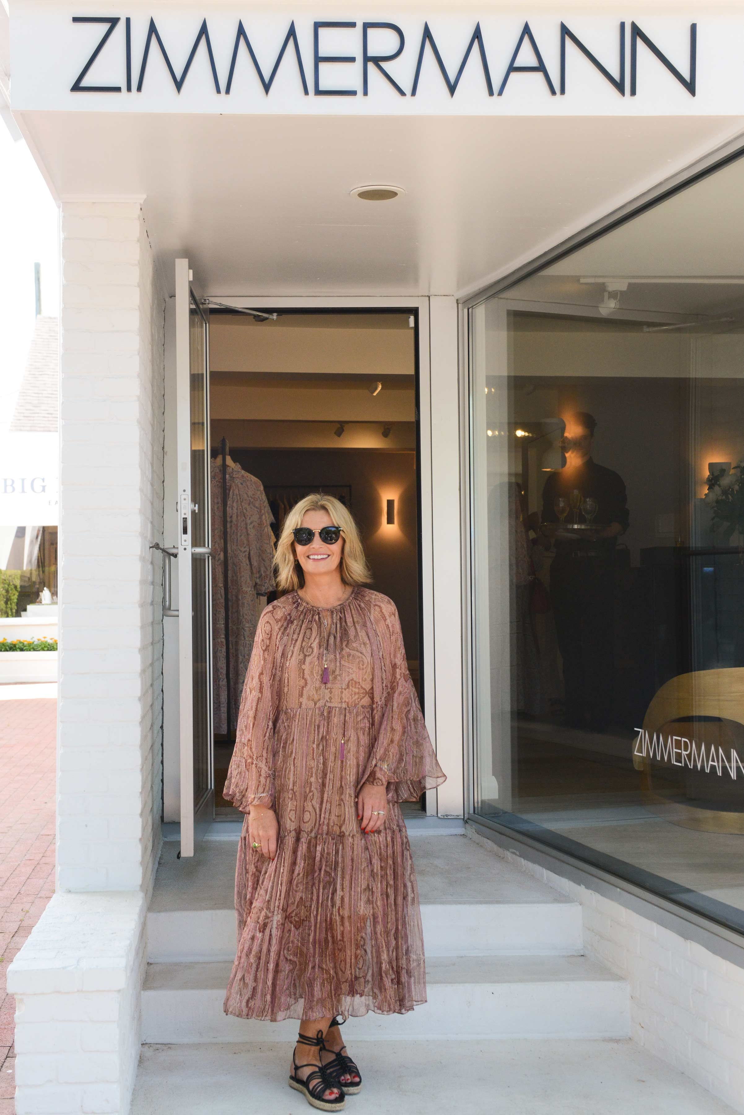 Simone Zimmermann standing at the doorway of our East Hampton store