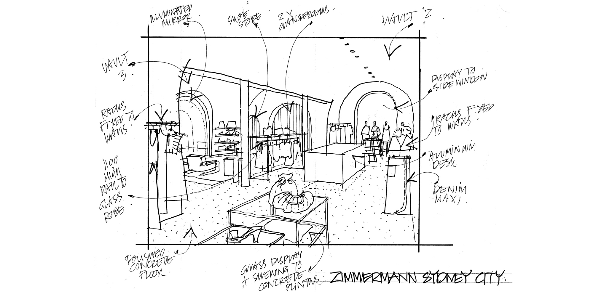 A sketch of our Sydney CBD store by Don McQualter