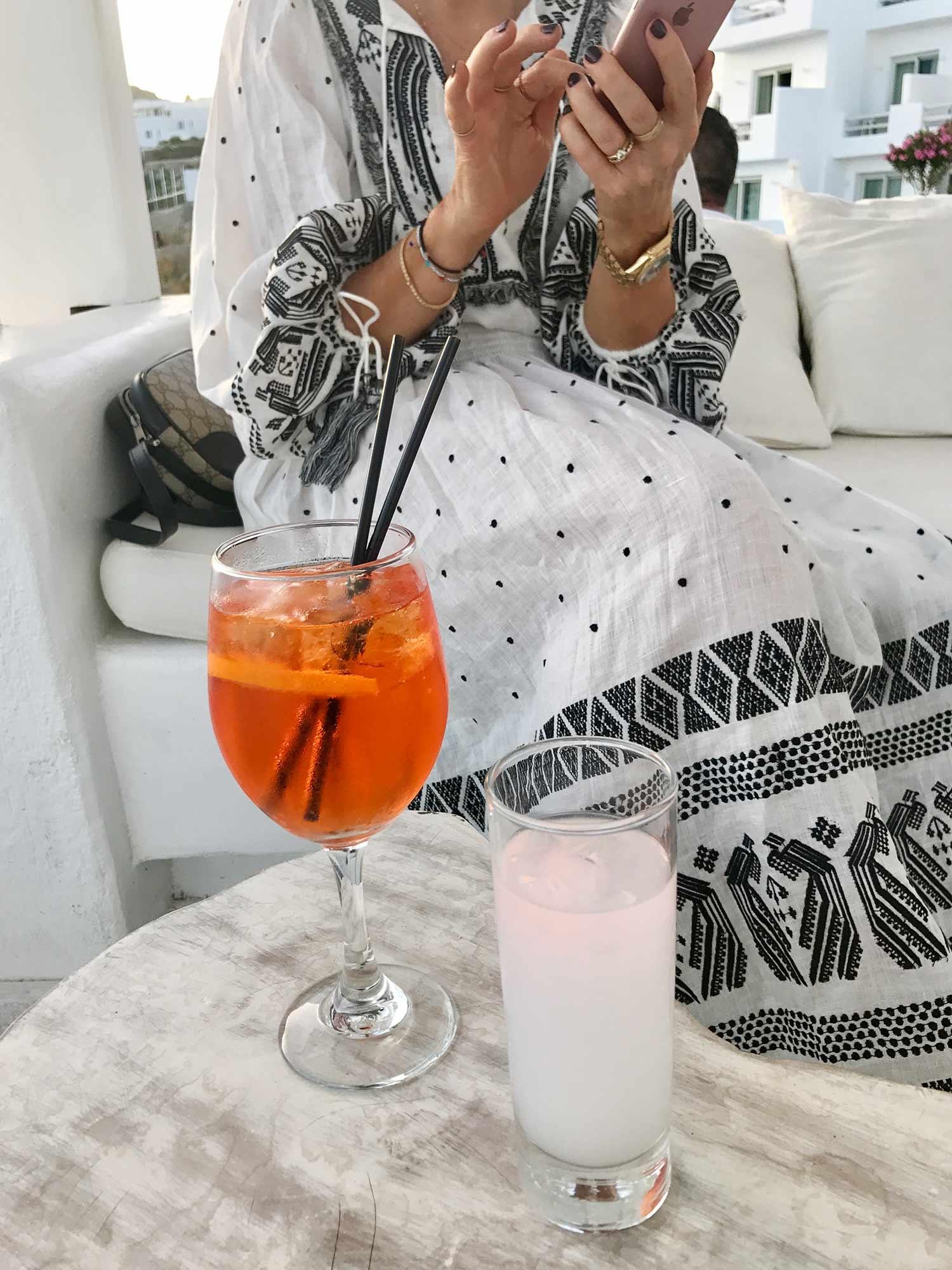 Enjoying an afternoon spritz. July 2017