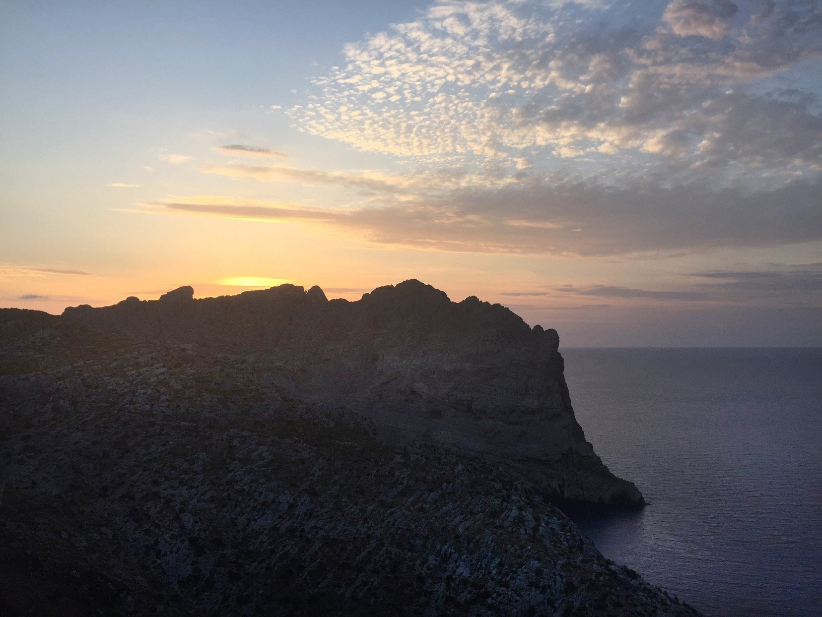 Sunset vista at Mirador De Mel Pas