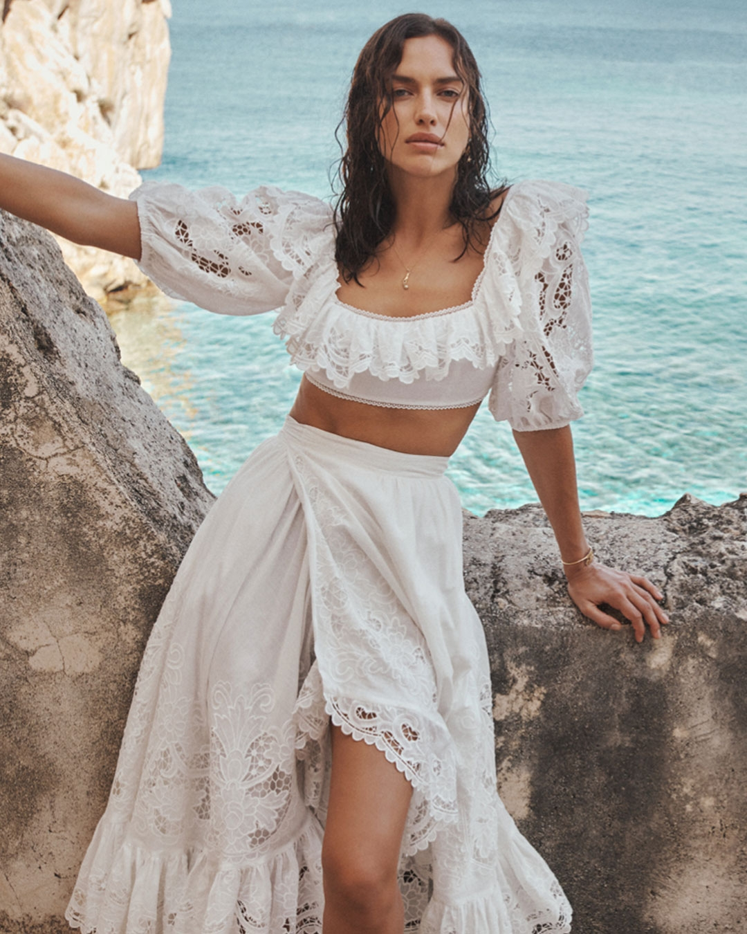 Shop our Edit of white dresses, skirts and tops