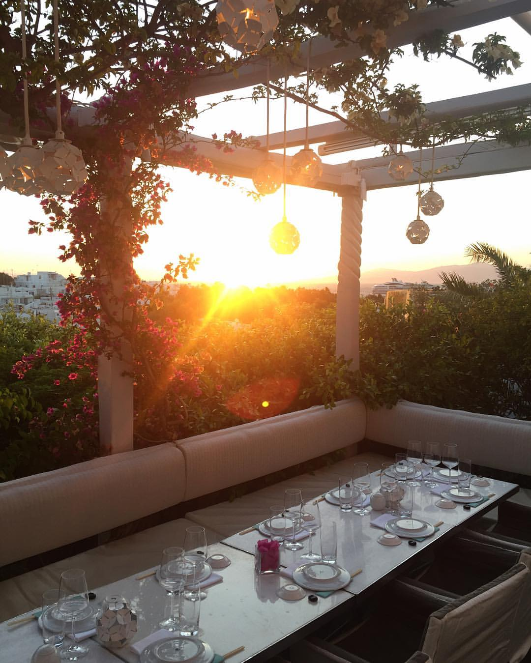 The sunset at Nobu for the Zimmermann x Net-A-Porter capsule launch. July 2016