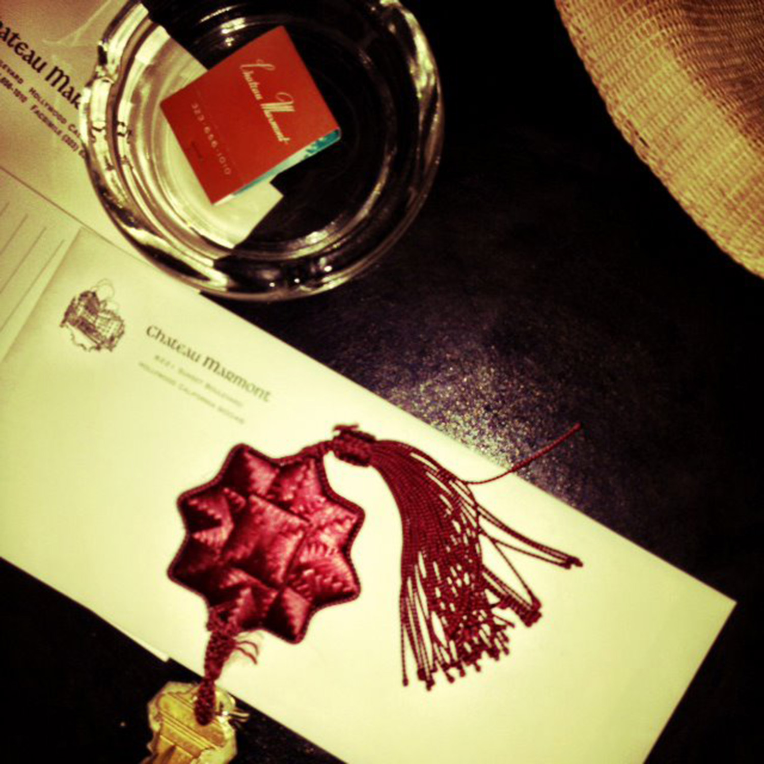 Room keys for The Chateau Marmont