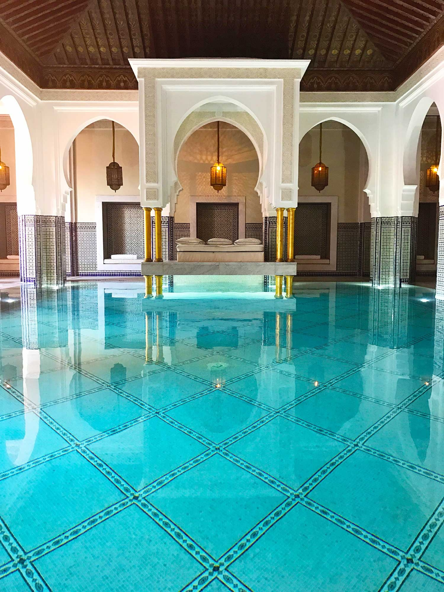 The large spa at La Moamounia