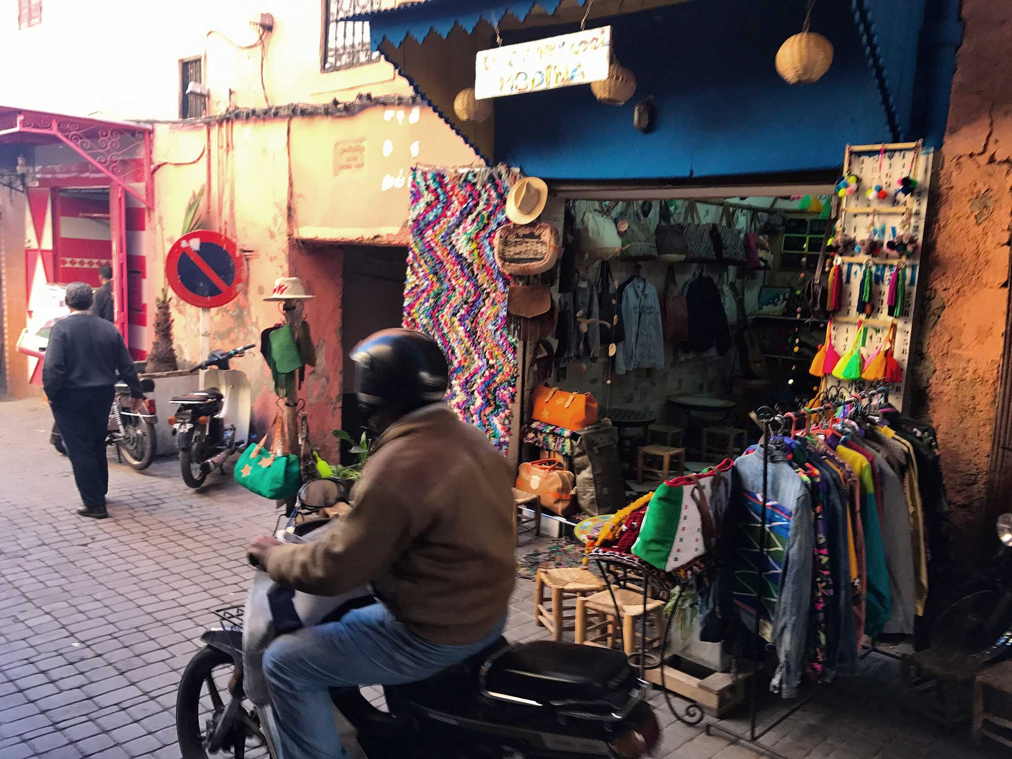 Wandering the colourful laneways of Marrakech