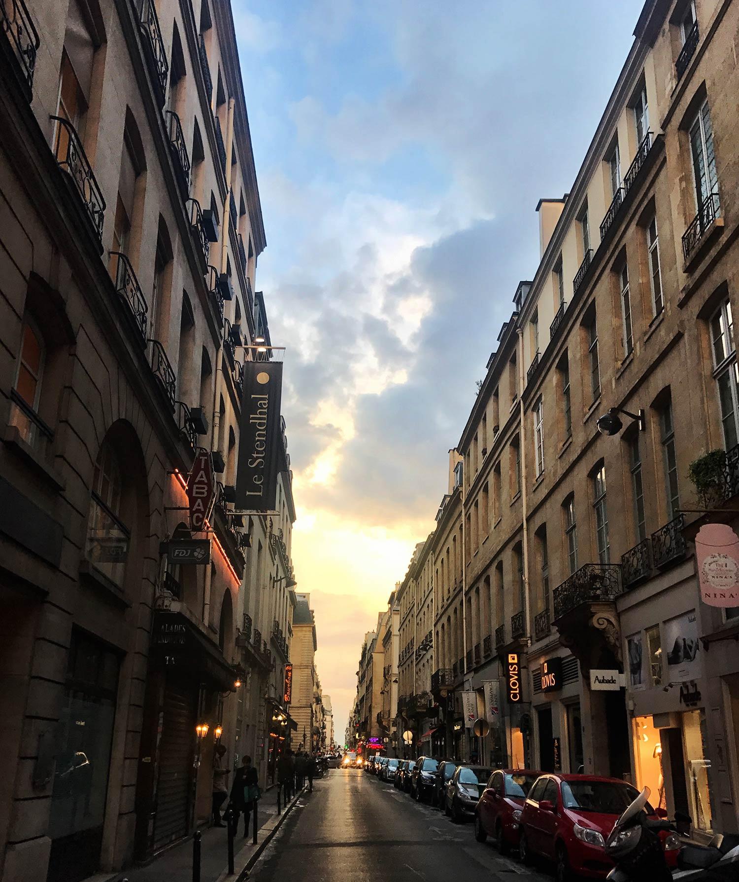 Sunset in Paris. December 2018