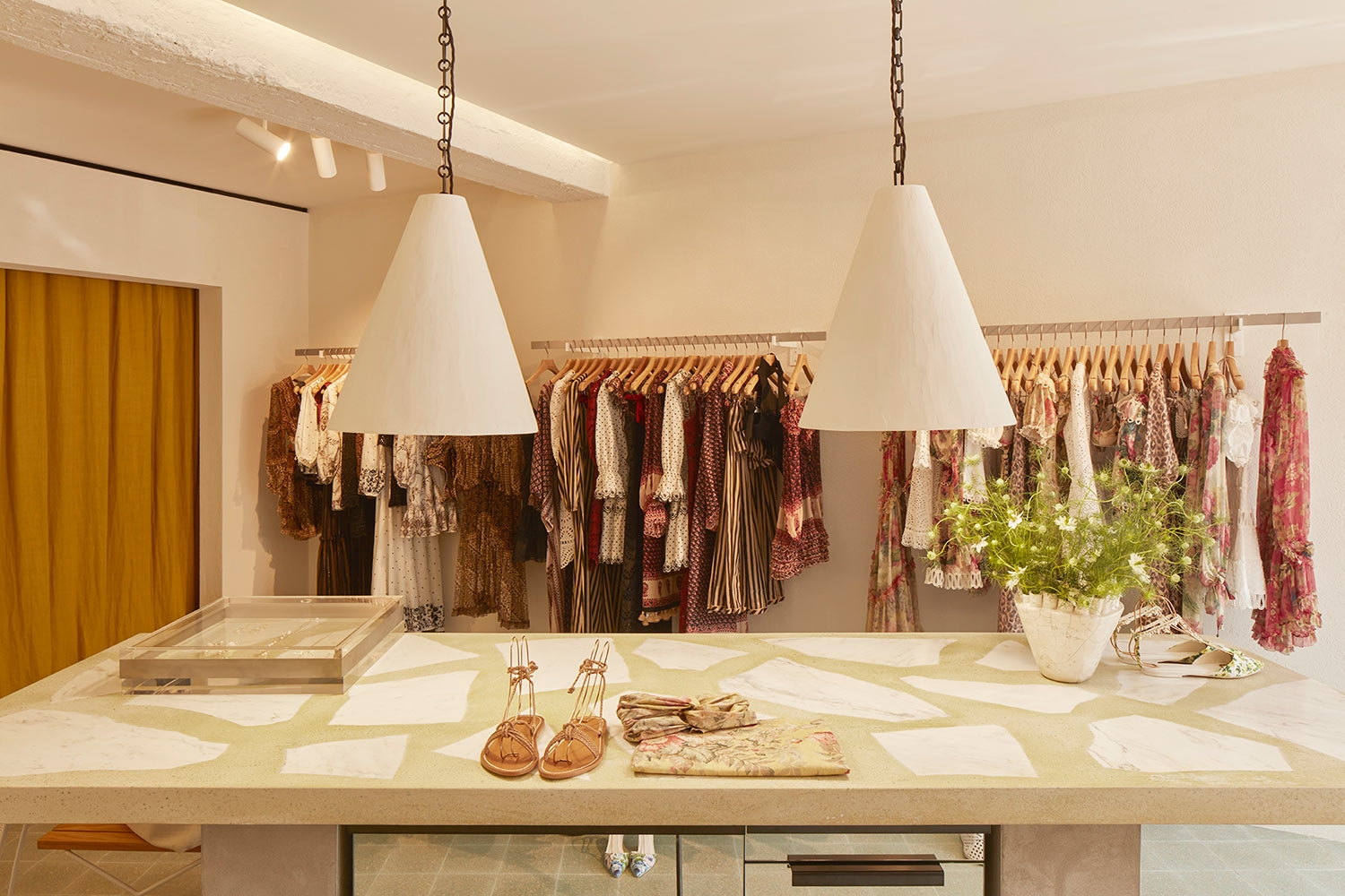 The large table in the entry way to our Saint-Tropez store