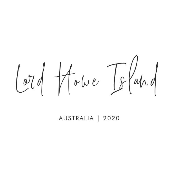 Lord Howe Island Australia 2020