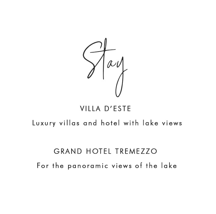 Where to Stay in Lake Como: Villa D'este - Luxury villas and hotel with lake views; Grand Hotel Tremezzo - For the panoramic views of the lake
