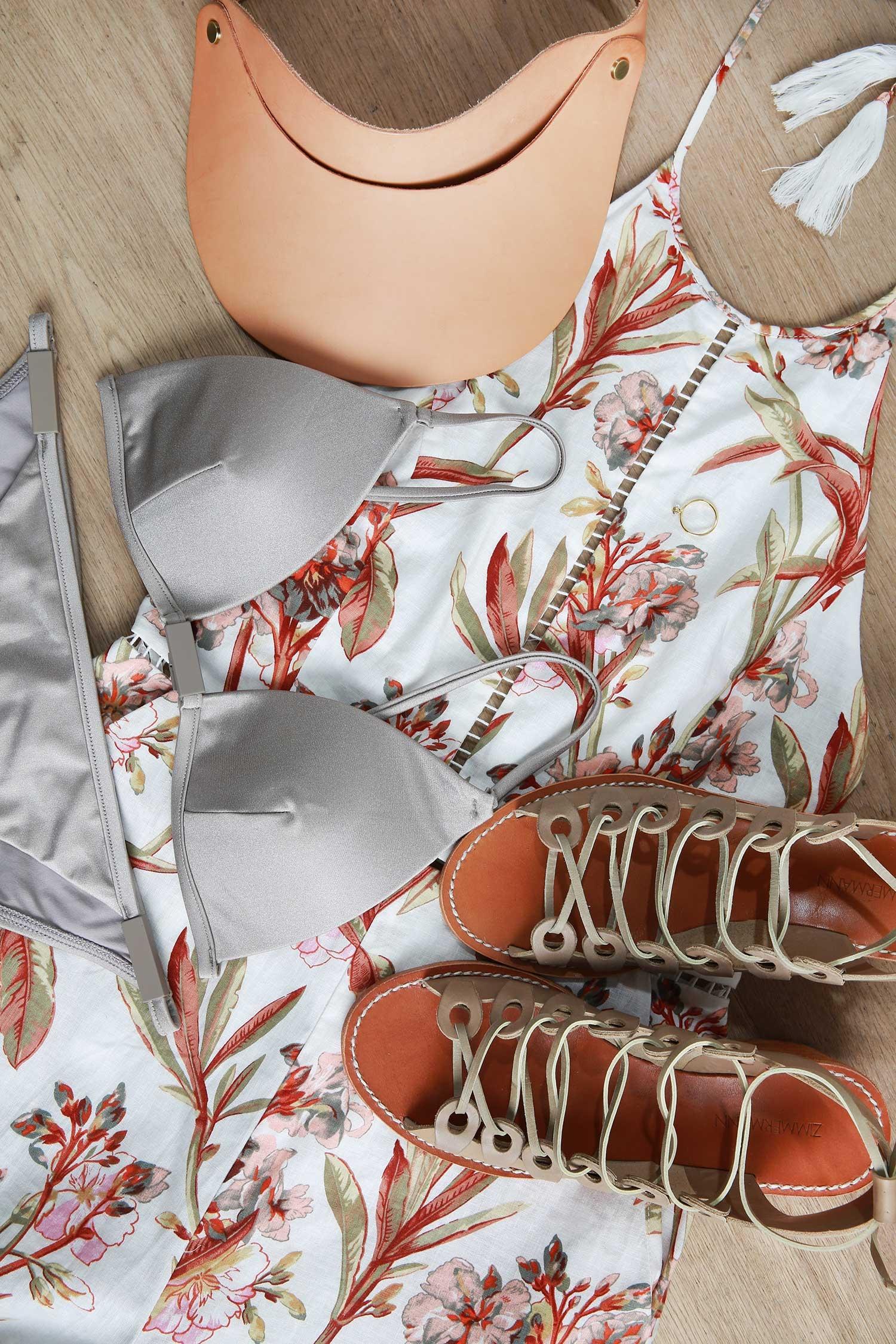 Zimmermann swimwear, shoes and hat